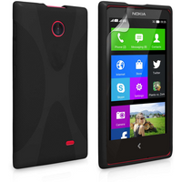 Yousave Accessories Nokia X Silicone Gel X-Line Case - Black