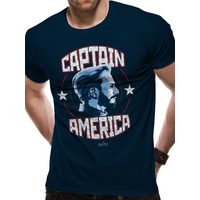 Avengers: Infinity War - Captain America Men's Small T-Shirt - Black