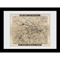 Transport For London Way To Wembley Framed Collector Print