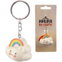 Kawaii Rainbow Cloud Keyring
