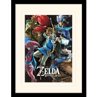 The Legend of Zelda: Breath Of The Wild - Divine Beasts Collage Mounted & Framed 30 x 40cm Print