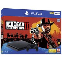 'Playstation 4 (500gb) Black Console With Red Dead Redemption 2