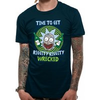 Rick And Morty - Riggity Riggity Wrecked Men's Large T-Shirt - Black