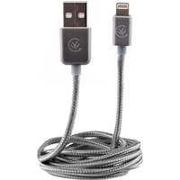 Urbanz INC-LC1-SG Braided Cord Lightning Cable for iPhone & iPad - Silver