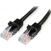 StarTech 45PAT50CMBK 0.5m Cat5e U/UTP (UTP) Black networking cable