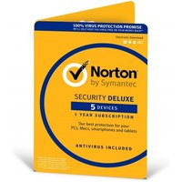 Norton Security Deluxe 3.0 1 User 5 Devices 12 Months License Card (PC/Mac)