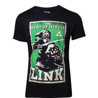 Legend of Zelda - Hero of Hyrule Link Poster Men's Medium T-Shirt - Black