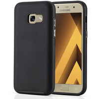 Samsung Galaxy A3 (2017) PC & TPU Textured Case - Black (Retail Box)