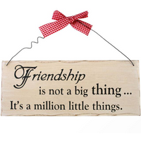Friendship Is Not A Big Thing Hanging Sign