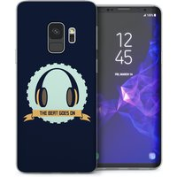 CASEFLEX SAMSUNG GALAXY S9 THE BEAT GOES ON - BLUE CASE / COVER (3D)