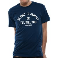 Morrissey - Be Kind Men's XX-Large T-Shirt - Blue