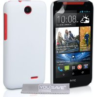 YouSave Accessories HTC Desire 310 Hard Hybrid Case - White