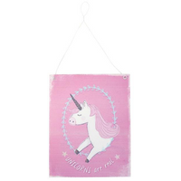 Pink Unicorns are Real Metal Sign