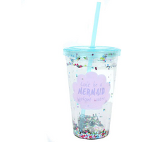 Cant be a Mermaid...Sequin Drinking Cup with Water Pack Of 4