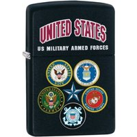 Zippo US Military Armed Forces Black Matte