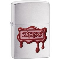 Zippo Red Wax Seal Brushed Chrome Windproof Lighter