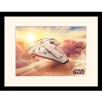 Solo: A Star Wars Story - Millennium Falcon Mounted & Framed 30 x 40cm Print