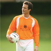 PT Bernabeu II Shirt 42-44 inch Dutch Orange/White