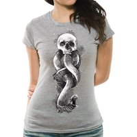 Harry Potter - Dark Art Snake Fitted Women's Medium T-shirt - Grey