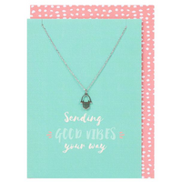 Sending Good Vibes Necklace and Card Pack Of 12
