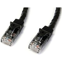 0.5m Black Gigabit Snagless RJ45 UTP Cat6 Patch Cable - 0.5m Patch Cord