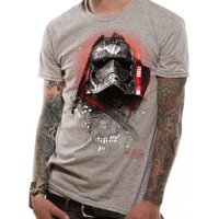 Star Wars 8 The Last Jedi - Captain Phasma Art Men's X-Large T-Shirt - Grey