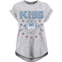 Kiss - Spirit Of 76 Women's Small Rolled Sleeve T-Shirt - Grey