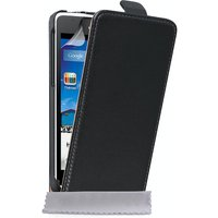 YouSave Accessories Huawei Ascend Y530 Real Leather Flip Case - Black