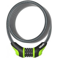 OnGuard Neon Combo Cable Lock Green 1800 x 10mm