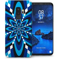 CASEFLEX SAMSUNG GALAXY S9 PLUS BLUE RETRO PATTERN CASE / COVER (3D)