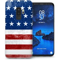 CASEFLEX SAMSUNG GALAXY S9 PLUS RETRO USA FLAG CASE / COVER (3D)