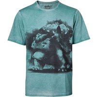 Pokemon - Venusaur Oil Washed Men's X-Large T-Shirt - Turquoise