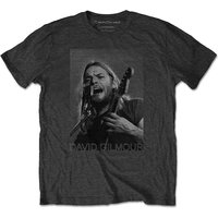 David Gilmour - On Microphone Half-tone Men's X-Large T-Shirt - Charcoal Grey