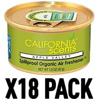 Apple Valley (Pack Of 18) California Scents Spillproof Organic Canister