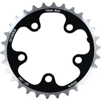 ETC Chainring Alloy CNC 110mm 5 Bolt 48 Teeth Silver/Black