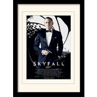 James Bond - Skyfall One Sheet - Black Mounted & Framed 30 x 40cm Print