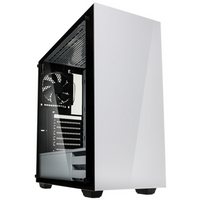 Kolink Stronghold Full Tower 1 x USB 3.0 / 2 x USB 2.0 Tempered Glass Side Window Panel White Case