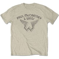 Paul McCartney - Wings Logo Men's XX-Large T-Shirt - Natural