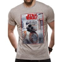 Star Wars VIII The Last Jedi - BB8 Reveal Men's Small T-Shirt - Grey