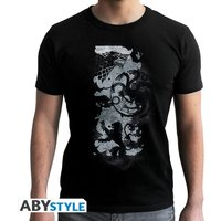 Game Of Thrones - Map - Men's Small T-Shirt - Black