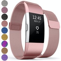 Proworks FitBit Charge 2 Milanese Metal Strap - Rose Pink