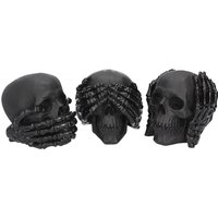 Dark See No, Hear No, Speak No Evil Skulls