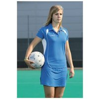 PT Ladies Polo Shirt Small Royal/White