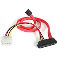 StarTech 18in SAS 29 Pin to SATA Cable with LP4 Power