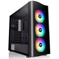 Thermaltake View 23 ARGB Edition Mid Tower 2 x USB 3.0 Tempered Glass Side Window Panel Black Case with Addressable RGB LED...