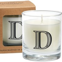 D Alphabet Candle in Large Glass Jar