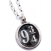 Sterling Silver Platform 9 3/4 Charm Necklace