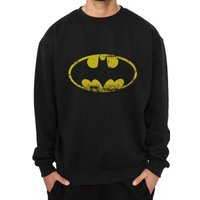 Batman - Distressed Logo Men's XX-Large Crewneck Sweatshirt - Black