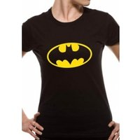 Batman Logo DC Essentials Range Womens T-Shirt X-Large - Black