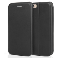 Apple iPhone 6/6S PU Leather Stand Wallet with Felt Lining/ID Slots - Black